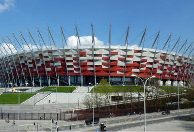 Ul. Wybrzeże Szczecińskie, Warszawa 2011r – Stadion Narodowy pow. 1600mb Termoizolacja poziomu 0 oraz wykonanie zabudowy ciągu schodów kaskadowych