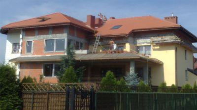 Ząbki, 2010 – Budynek prywatny pow. 470m2 Kompleksowe pokrycie dachu dachówką ceramiczną
