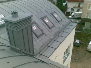 Pokrycie dachu blachą tytan cynk